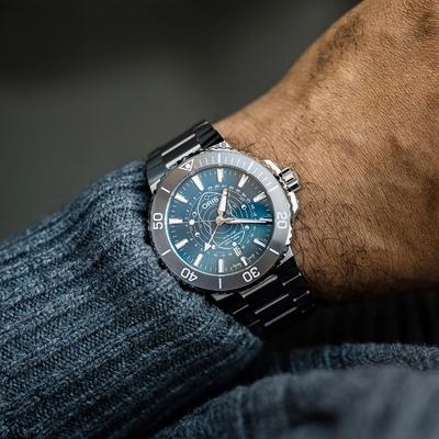Oris豪利時 Aquis Dat Watt 瓦登海 限量腕錶 0176177654185-Set