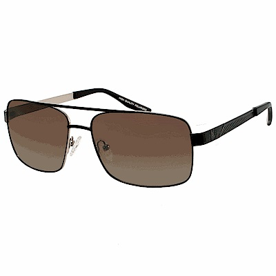 【CHELSEA 切爾西】復古方框 偏光太陽眼鏡-黑框棕鏡面(#CFC9109-C2)