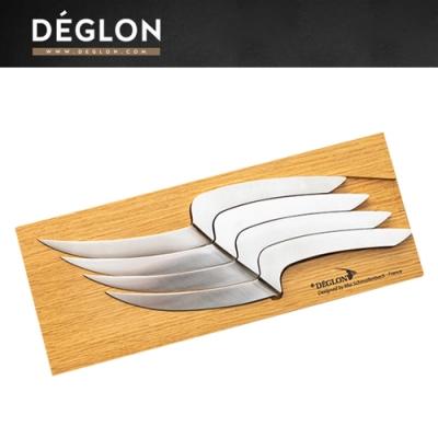 Deglon MEETING 木座牛排刀四件組