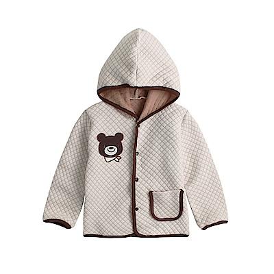 baby童衣 空氣棉連帽刺繡外套 82060