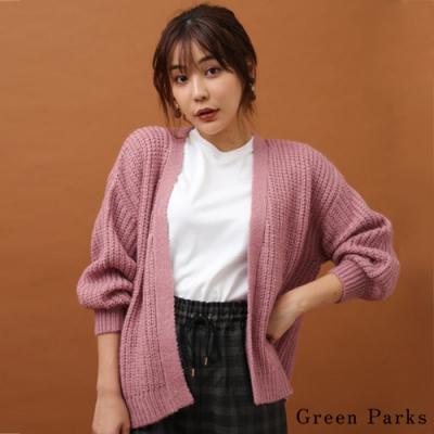 Green Parks 素色粗針織罩衫外套