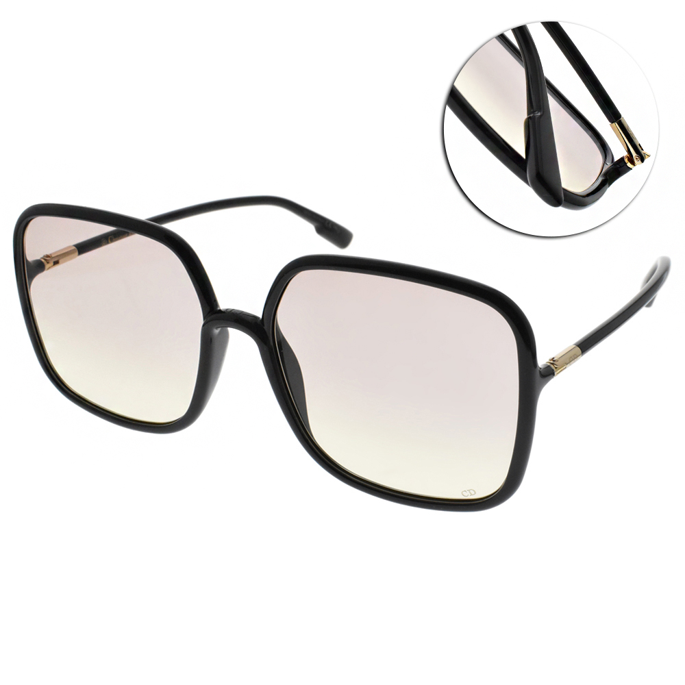 DIOR太陽眼鏡 高雅大方框款/黑-漸層粉 #SOSTELLAIRE1 807VC