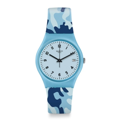 Swatch Core Refresh 系列手錶 CAMOUBLUE 迷彩藍 - 34mm
