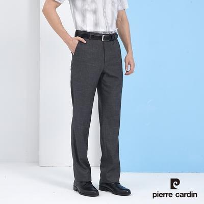 Pierre Cardin皮爾卡登 男裝 彈性伸縮腰頭平口西裝褲-灰色 (5217812-96)