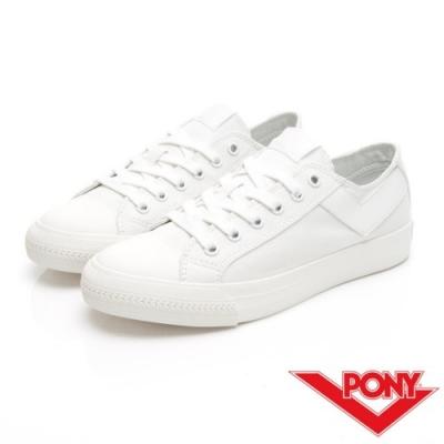 【PONY】Shooter系列百搭復古經典帆布鞋 情侶鞋 小白鞋 女鞋 白色