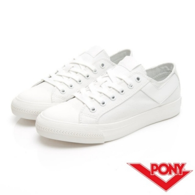 【PONY】Shooter系列百搭復古經典帆布鞋 情侶鞋 小白鞋 男鞋 白色