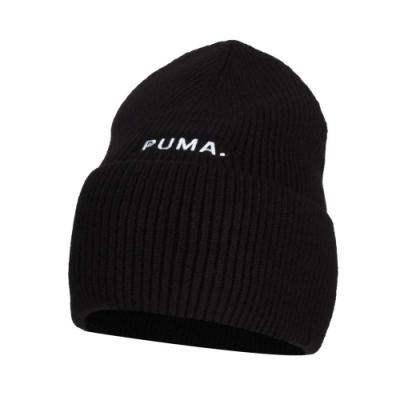 PUMA 流行系列毛帽-帽子 保暖 針織 毛線帽 02235001 黑白