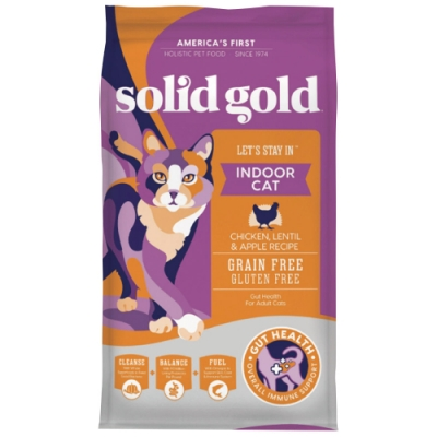 速利高solidgold 宅宅貓吃雞室內化毛飼料3lb