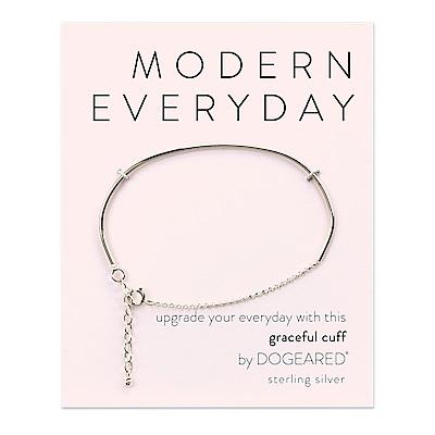 Dogeared modern everyday 平衡骨手鍊 銀色 亮面優雅墜 經典百搭款