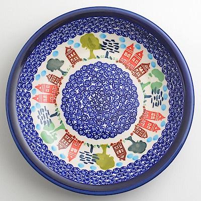 【波蘭陶 Zaklady】 浪漫美屋系列 圓形深餐盤 22cm 波蘭手工製