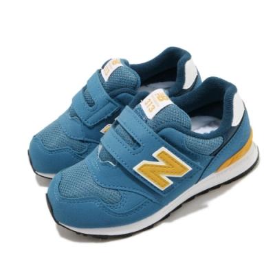 New Balance 休閒鞋 IO313BY W 寬楦 運動 童鞋 紐巴倫 基本款 簡約 舒適 魔鬼氈 小童 藍 黃 IO313BYW