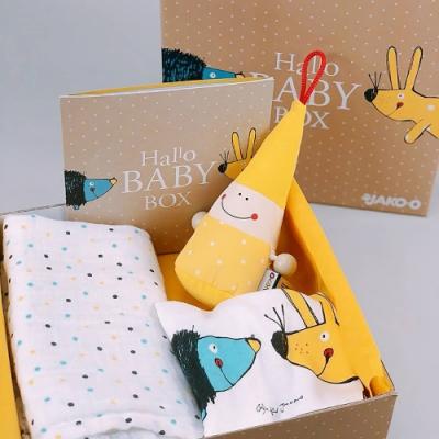 [時時樂限定46折] JAKO-O 德國野酷 寶貝新生禮盒組(彌月/寶寶包臀衣/安撫玩偶/布巾)