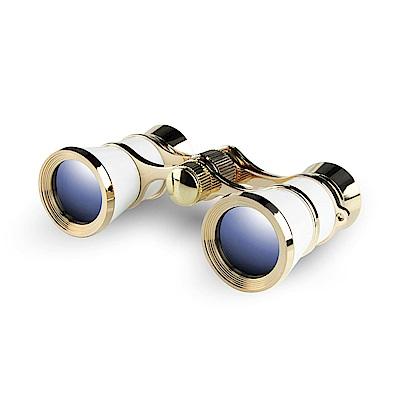 【日本 I.L.K.】3x23mm 日本製經典歌劇望遠鏡 珍珠白 233AWH