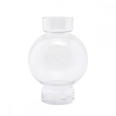 hoi! 丹麥House doctor北歐設計款玻璃花瓶-透明 高25cm (H014272122)