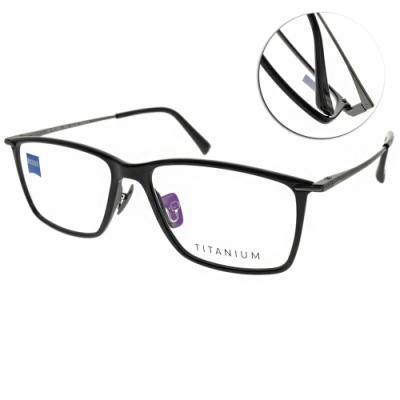 ZEISS蔡司眼鏡 經典方框款/黑-霧槍 #ZS75007 C900