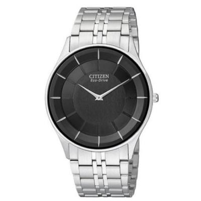 CITIZEN 中性簡約光動能超薄腕錶(AR3010-65E)/黑/36mm