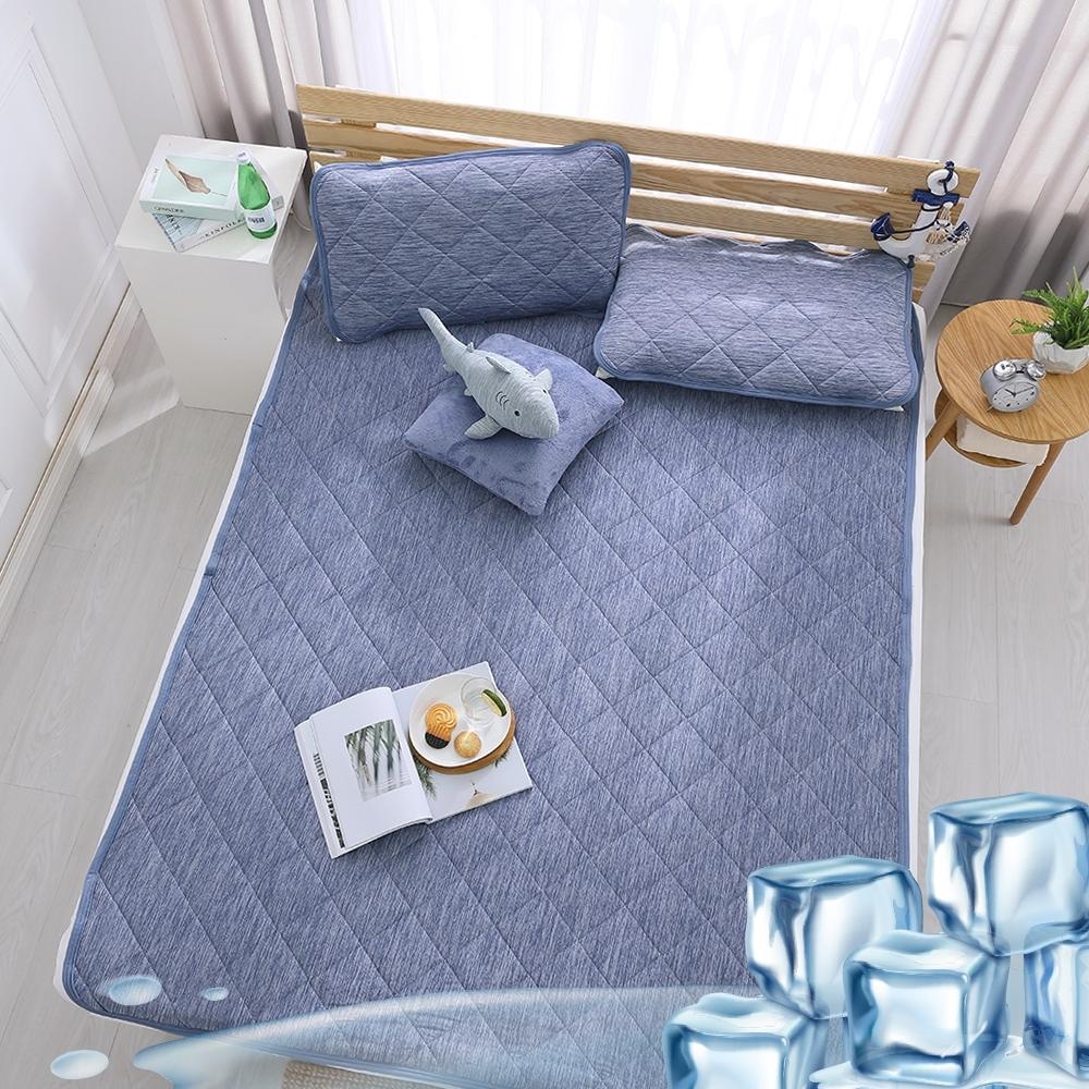 (限時下殺)鴻宇 涼感-5度C瞬涼可洗抗菌涼墊 單人+枕墊1入 /雙人無枕墊 均一價