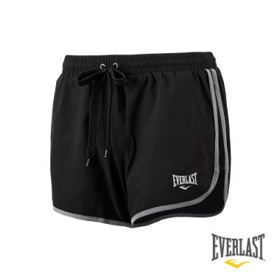 【EVERLAST】女款機能運動短褲-黑色