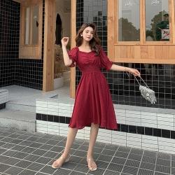 IMStyle 韓版時尚閃亮鬆緊腰連身裙【正品】