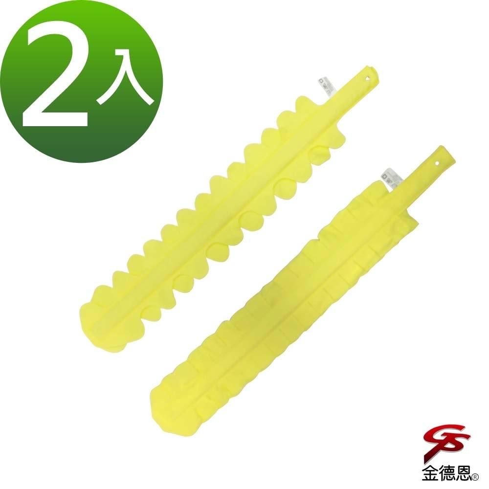 金德恩 台灣製造 2入扁平鋸齒隙縫除塵不織布清潔刷77x13cm/款式隨機
