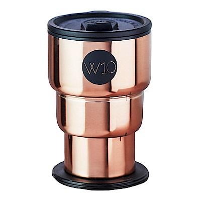 W10不鏽鋼折疊隨身杯-玫瑰金