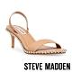 STEVE MADDEN-ZOELLE 滾珠一字帶低跟涼鞋-卡其色 product thumbnail 1