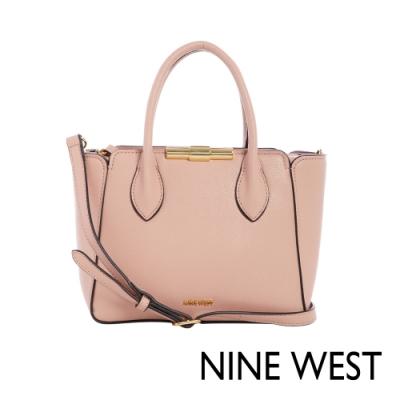 NINE WEST HOLLIS金屬釦中型手提包-玫瑰粉(116605)
