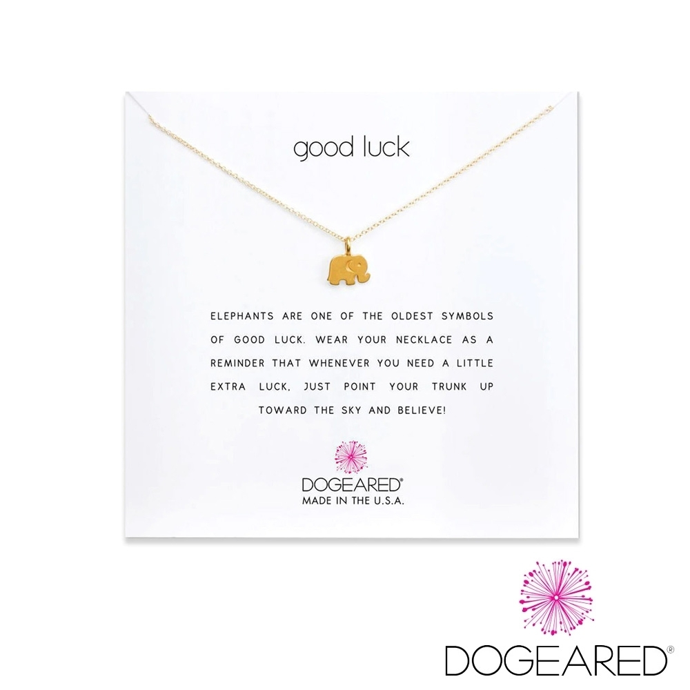 美國DOGEARED 幸運大象鍍金祈願項鍊 Good Luck Necklace product image 1