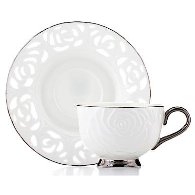 Royal Duke 骨瓷咖啡對杯-典藏玫瑰(銀)