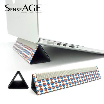 SenseAGE 攜帶型可收納式筆電散熱墊高支架 (幾何圖形)