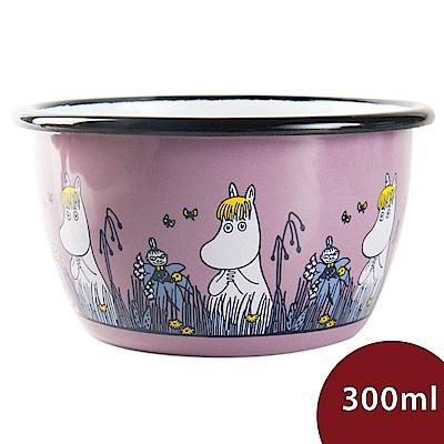 Muurla 嚕嚕米點心碗 草原漫遊 藕紫 300ml 11.3cm