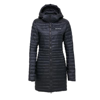 法國【EiDER】女輕量保暖透氣長版羽絨外套 / 8EIV2807-黑