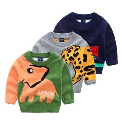 小衣衫童裝 兒童秋冬款可愛圖案長袖針織毛衣1081012
