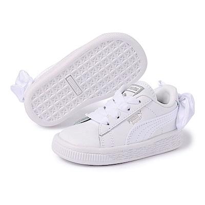 PUMA-BasketBowACInf嬰孩鞋-白色