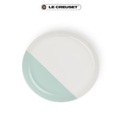 [結帳7折] LE CREUSET瓷器花蕾系列餐盤22cm-棉花白/甜薄荷