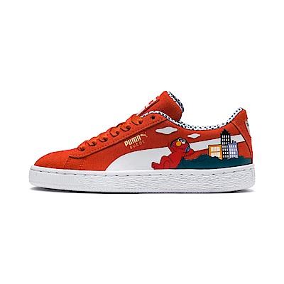 PUMA-Sesame Str 50 Suede Jr 大童運動鞋-櫻茄紅
