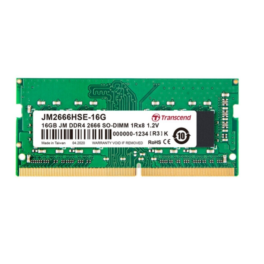 Transcend創見  JetRAM DDR4-2666MHz 16GB 筆電記憶體