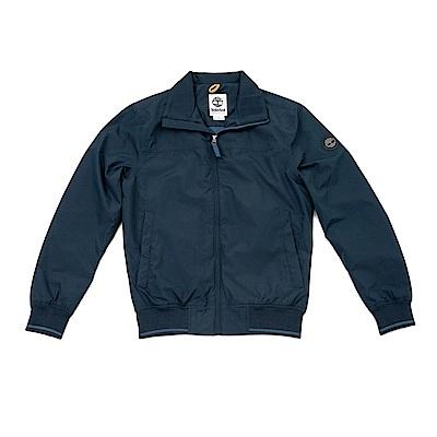 Timberland男款暗藍色筒形立領飛行夾克 | A1W8Q433