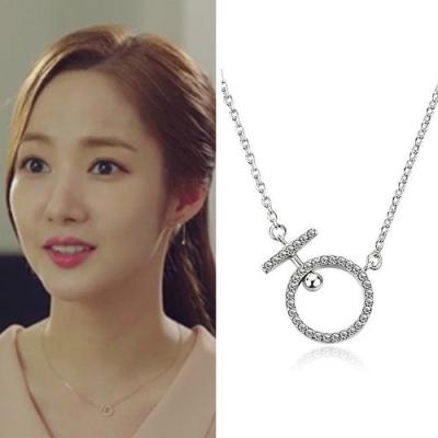 梨花HaNA 韓國925銀金秘書為何那樣銀鑽點飾鎖骨鍊