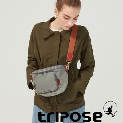 tripose 漫遊系列岩紋斜背腰包 優雅灰