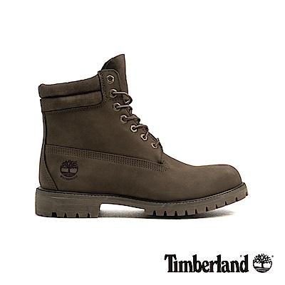 Timberland 男款橄欖色正絨面皮革高筒靴|A18ZP