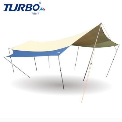 【Turbo Tent】UFO580天幕-乾隆黃配色(蝶形天幕 全遮光BlackOut)
