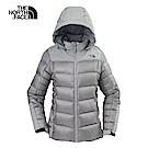 The North Face北面女款灰色保暖羽絨外套|3KTLCTE