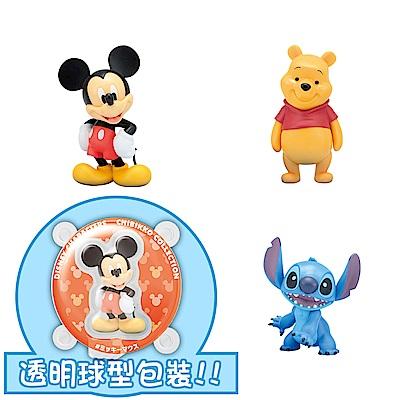 【SEGA】日版 景品 Disney迪士尼 透明球公仔 米奇/ 維尼/史迪奇