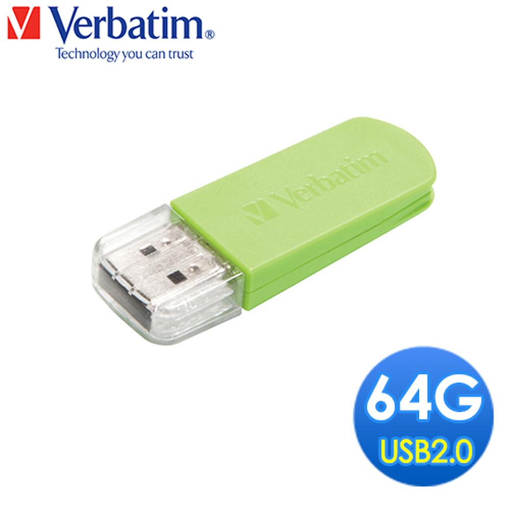 Verbatim 威寶 Mini USB 64GB  粉彩系隨身碟(草綠色)