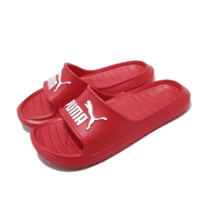 Puma 涼拖鞋 Divecat v2 套腳 男女鞋 輕便 舒適 大logo 夏日 情侶穿搭 紅 白 36940014