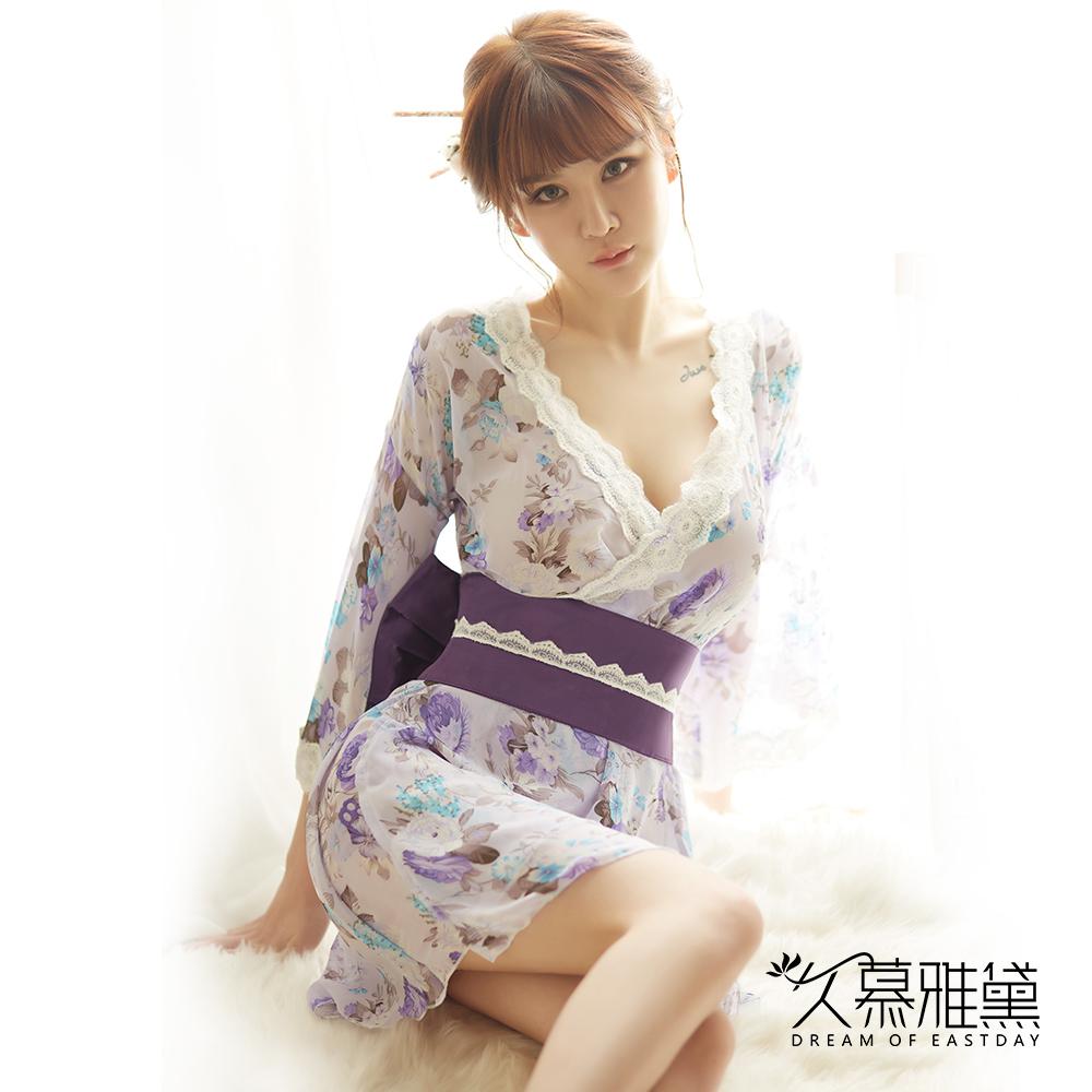 角色扮演服 紫櫻吹雪華麗和服 久慕雅黛