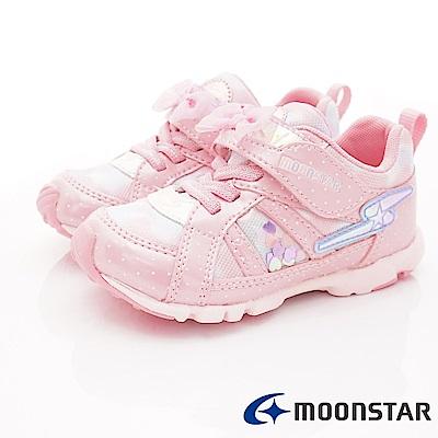 日本月星頂級競速童鞋 2E超輕量系列 EI404粉(中小童段)