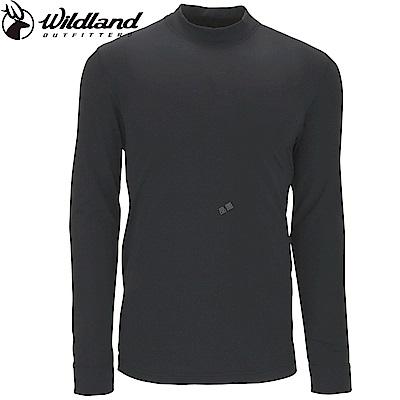 【Wildland 荒野】男遠紅外線彈性保暖衣黑