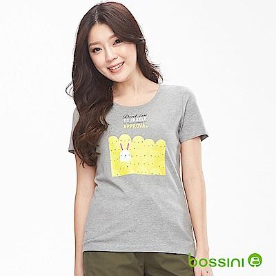 bossini女裝-印花短袖T恤07淺灰